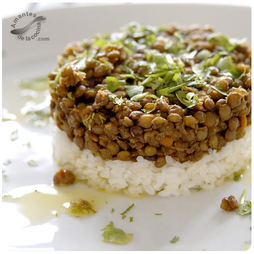 Lentejas con arroz blanco amantesdelacocina - Comidas con arroz blanco ...