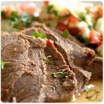Carne asada en sartén