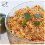 Pollo desmechado (Base para muchas recetas)