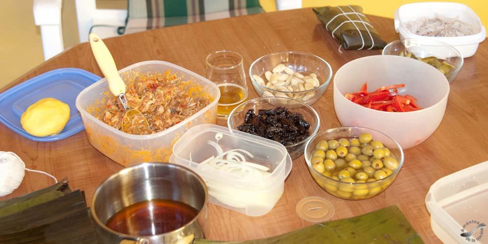 Hallaca venezolana - Ingredientes