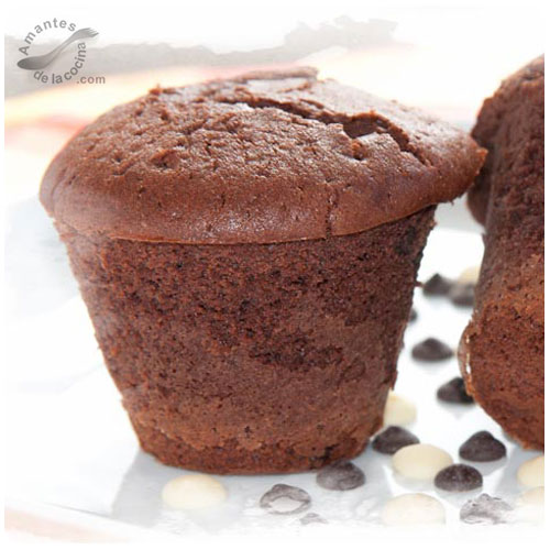 Cupcakes (ponquesitos o quequitos) de chocolate