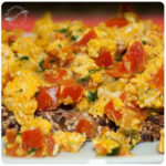 Perico o huevos perico (Huevos revueltos con sofrito)
