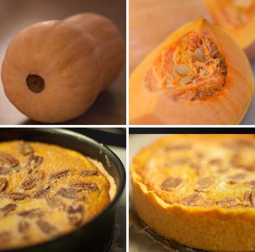 Pastel de calabaza con nueces pecanas (Pumpkin Pecan Pie)