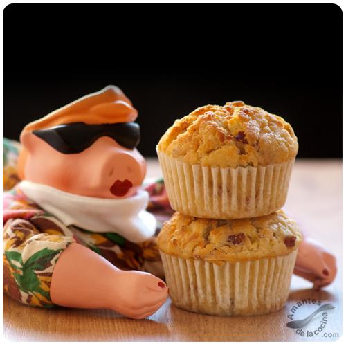 Muffins de puerro, tocineta y queso Cheddar 2