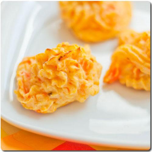 Puré de papas con zanahorias estilo Duquesa (Herzogin Kartoffeln mit Möhren)