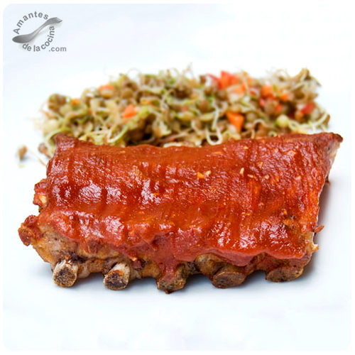 Costillitas de cerdo en salsa barbacoa (Costillitas Barbecue)