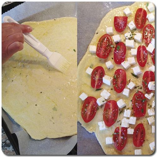 Pizza sin amasar en 1-2-3 - Elaboración de la pizza