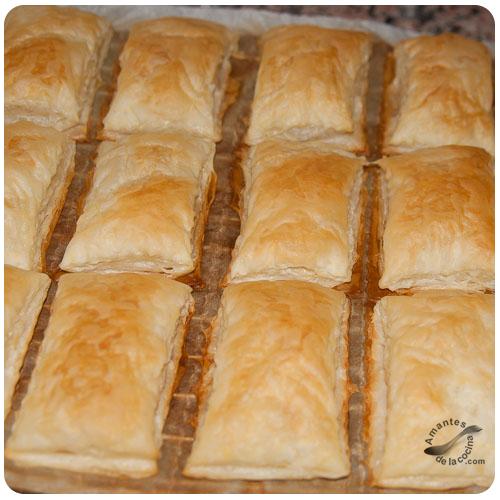 Pastelitos de hojaldre y natilla - Hojaldre