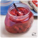 Mermelada de fresas y vainilla