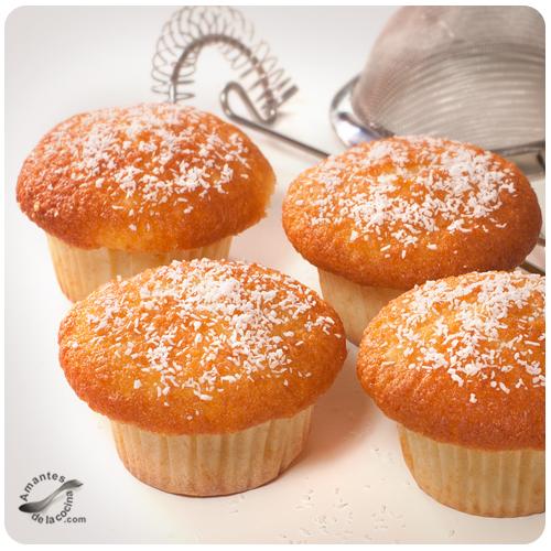 Muffins de yogurt griego y coco