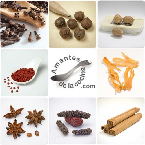 Condimentos, especias y hierbas