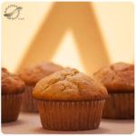 Muffins de banana y avellanas