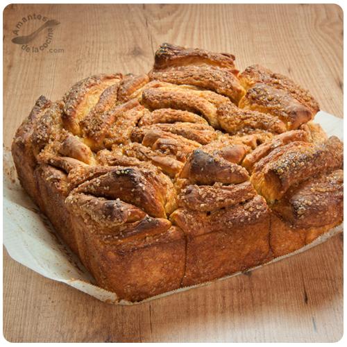 """pan dulce de canela en láminas o """"Cinnamon Sugar Pull-Apart Bread"""" 2"""