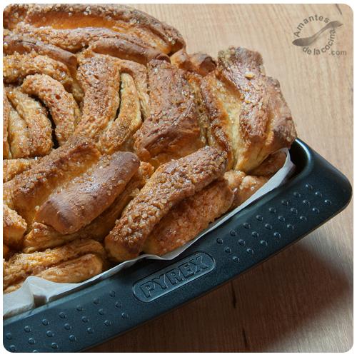 """pan dulce de canela en láminas o """"Cinnamon Sugar Pull-Apart Bread"""" 3"""