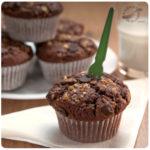 Muffins de chocolate y crocante de almendras