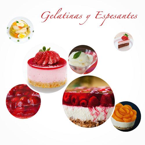 Gelatinas y espesantes - Tipos y usos
