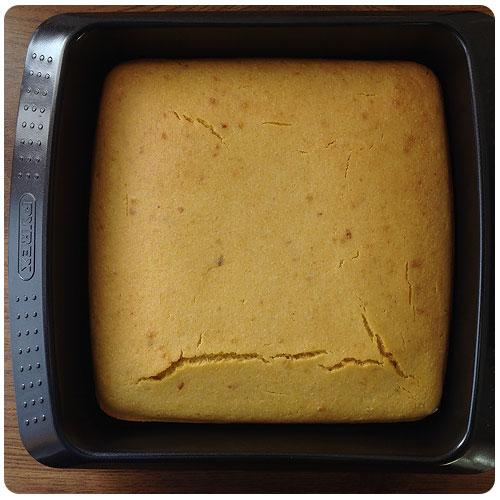 Pan de maíz - Horneado