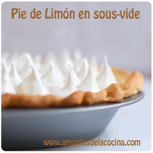 Pie de limón en sous vide